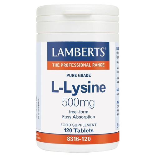 Lamberts L-Lysine 500mg 120 Tablets