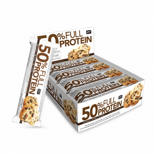Qnt 50% Full Protein Bar Chocolate Cookie 12 x 50gr