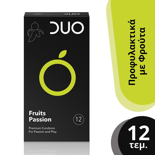 Duo Fruits Passion Προφυλακτικά με Φρούτα 12τμχ