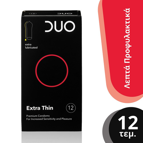 Duo Extra Thin Λεπτά Προφυλακτικά 12τμχ