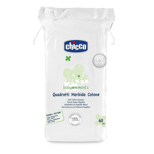 Chicco Baby Μoments Μαντηλάκια Από Μαλακό Βαμβάκι 60τμχ