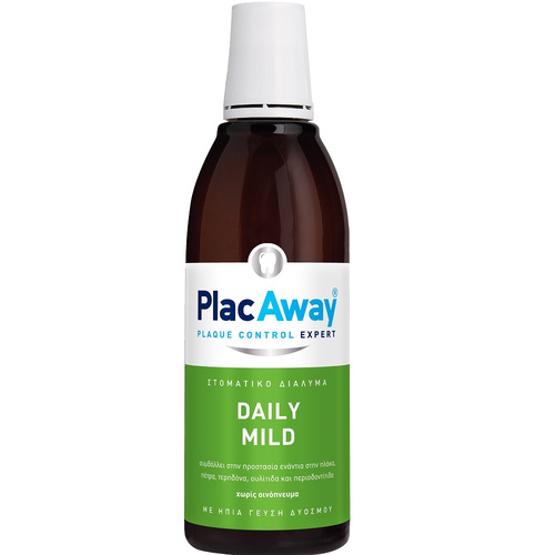 Plak Out Plac Away Daily Care Ήπιο Στοματικό Διάλυμα 500ml