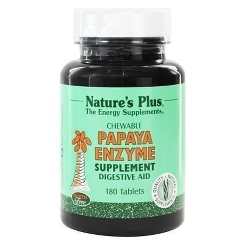 Nature's Plus Papaya Enzyme Chewable 180tabs