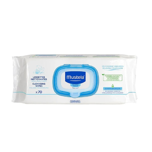 Mustela Dermo-Soothing Wipes Μωρομάντηλα 70τμχ