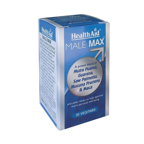 Health Aid Male Max Vegetarian Tablets 30's