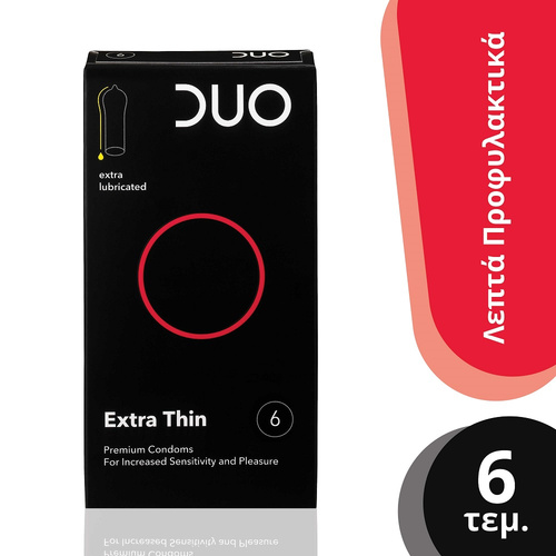 Duo Extra Thin Λεπτά Προφυλακτικά 6τμχ