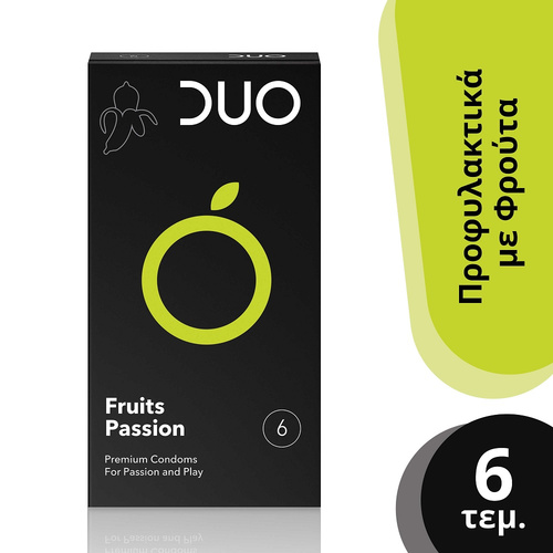 Duo Fruits Passion Προφυλακτικά με Φρούτα 6τμχ