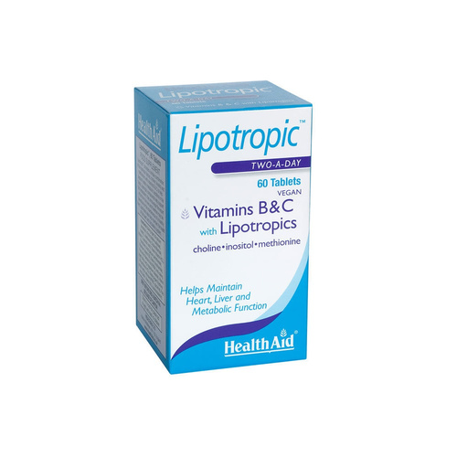Health Aid Lipotropics with Vitamins B & C 60tabs