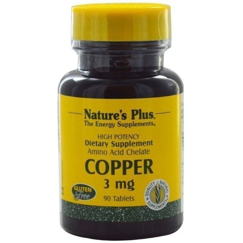 Nature's Plus Copper 3mg 90tabs