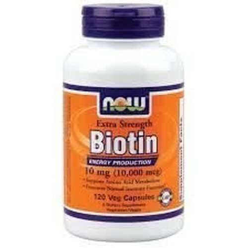 Now Foods Biotin 10mg Extra Strength 120Vcaps