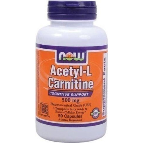 Now Foods Acetyl L-Carnitine 500mg 50caps