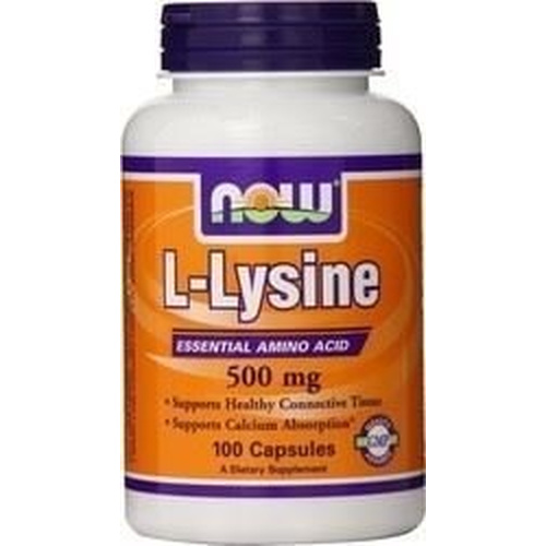 Now Foods L-Lysine 500mg 100caps