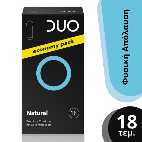 Duo Natural Economy Pack Φυσική Απόλαυση Προφυλακτικά 18τμχ