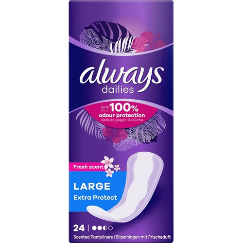 Always Dailies Extra Protect Large Fresh Σερβιετάκια 24τμχ