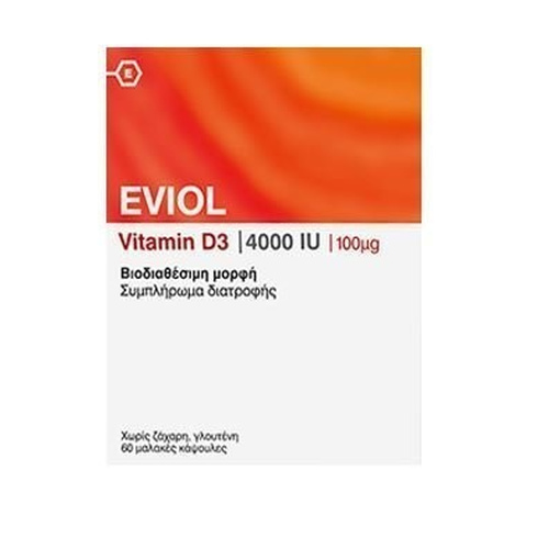 Eviol Vitamin D3 4000iu 100mcg 60caps