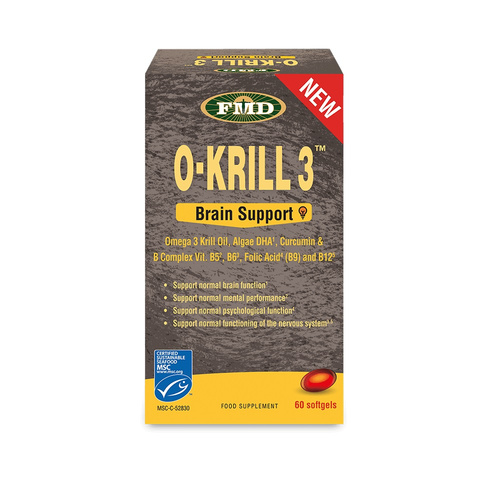 Udo's Choice O-Krill 3 Brain Support 60Caps