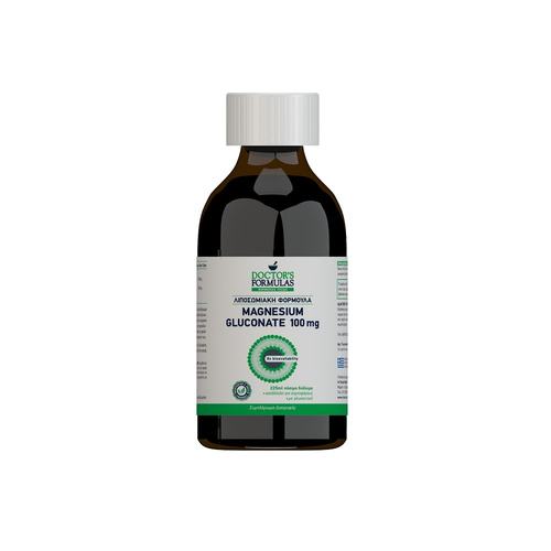 Doctor's Formulas Λιποσωμιακή Φόρμουλα Magnesium Gluconate 100Mg 180ml