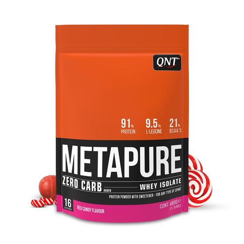 Qnt Zero Carb Metapure Red Candy Απομονωμένη Πρωτεΐνη Ορού Γάλακτος 480gr