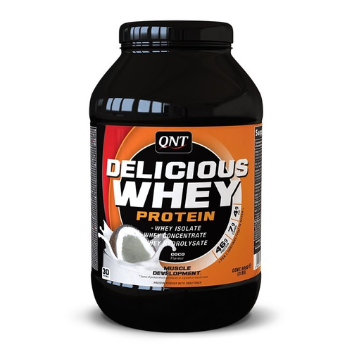 Qnt Delicious Whey Protein Powder Coconut 2.2Kg