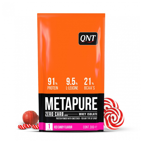 Qnt Metapure Zero Carb Red Candy Απομονωμένη Πρωτεΐνη Ορού Γάλακτος 30gr