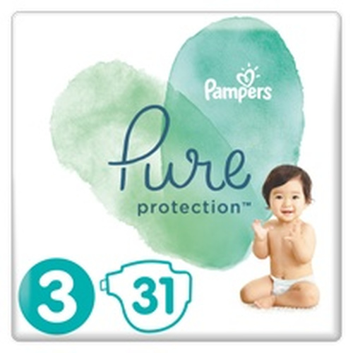 Pampers Pure Protection Μέγεθος 3 6-10Kg 31 Πάνες
