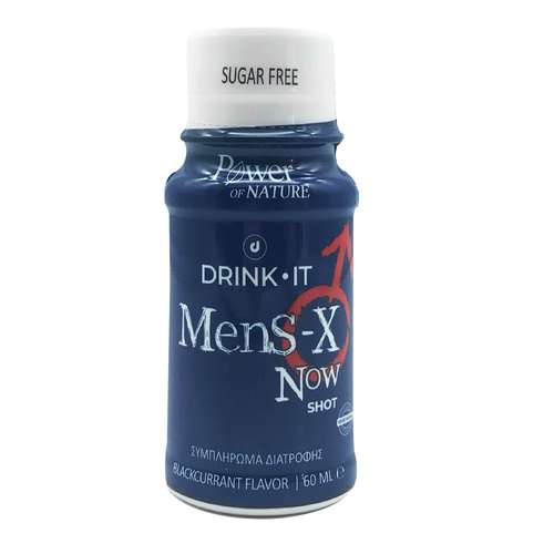 Power Health Drink It Mens-X Now Φραγκοστάφυλου 60ml