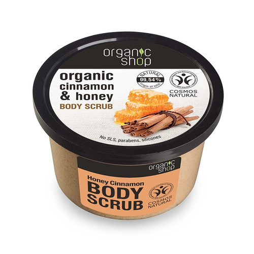 Natura Siberica Organic Shop Cinnamon & Honey Body Scrub 250ml