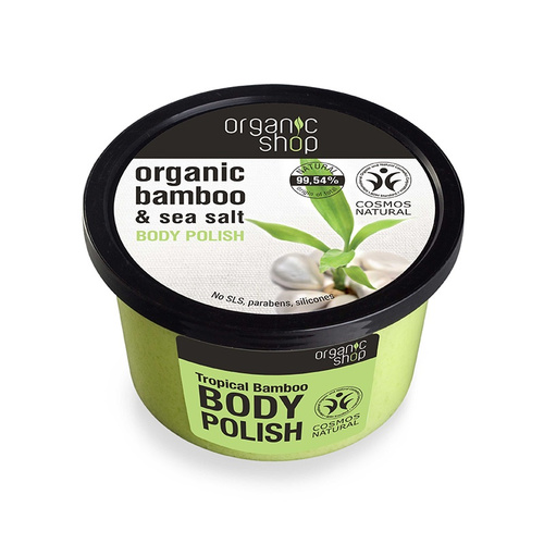 Natura Siberica Organic Shop Bamboo & Sea Salt Body Polish Απολεπιστικό Σώματος 250ml