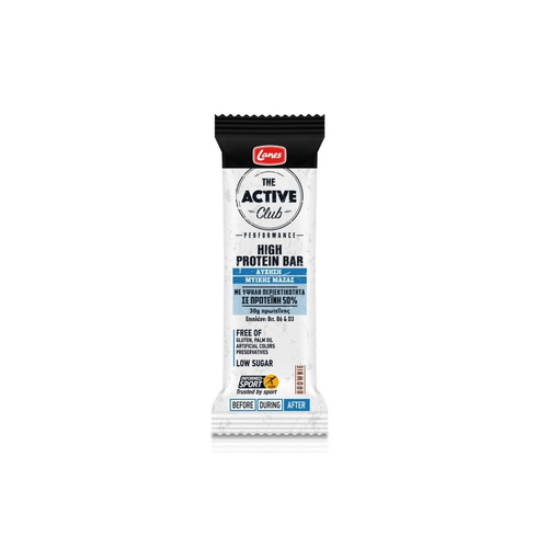 Lanes Active Club High Protein Bar Πρωτεϊνική Μπάρα 60gr