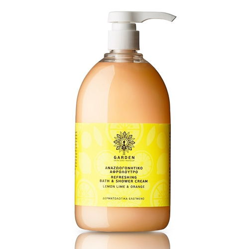 Garden Refreshing Bath & Shower Cream Lemon Lime & Orange 1Lt