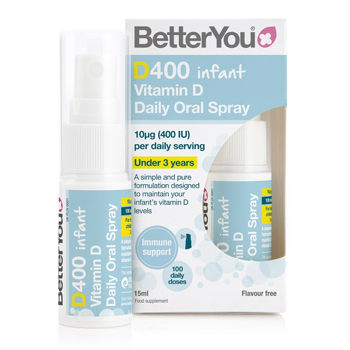 Better You Dlux Infant Vitamin D 400IU Oral Spray 15ml