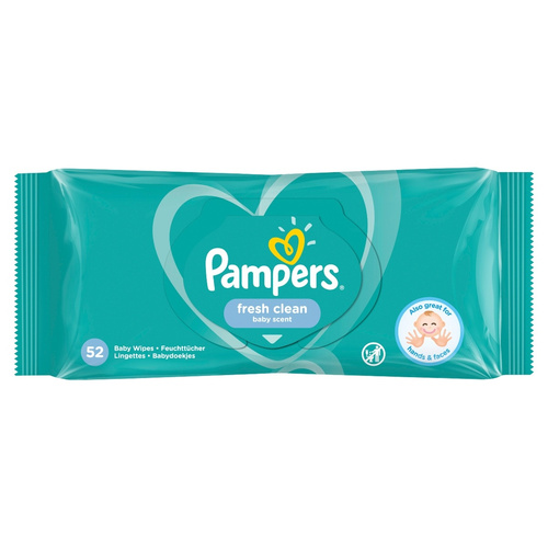 Pampers Fresh Clean Μωρομάντηλα 52 Μωρομάντηλα