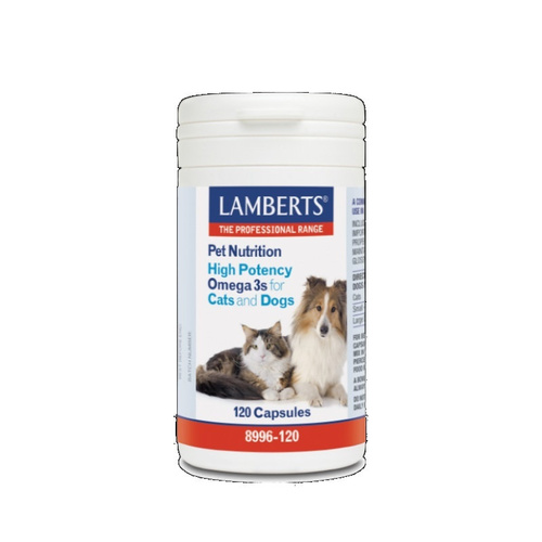 Lamberts Pet Nutrition High Potency Omega 3 For Pets 120Caps
