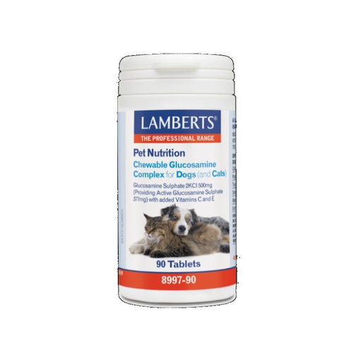 Lamberts Pet Nutrition Chewable Glucosamine Complex For Pets 90Tabs