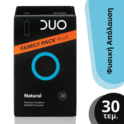 Duo Natural Family Pack Φυσική Απόλαυση Προφυλακτικά 30Τμχ