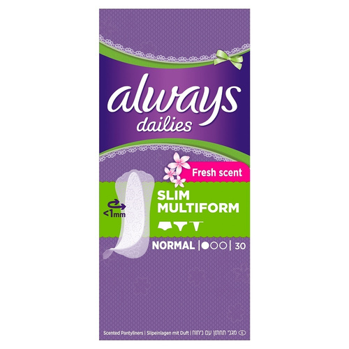 Always Dailies Slim Multiform Fresh Σερβιετάκια 30τμχ