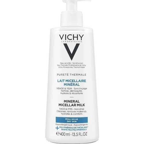 Vichy Purete Thermale Mineral Micellar Milk For Dry Skin 400ml