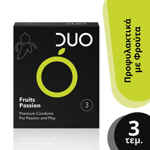 Duo Fruits Passion Προφυλακτικά με Φρούτα 3τμχ