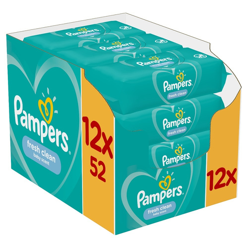 Pampers Promo Fresh Clean Μωρομάντηλα 12 X 52 Μωρομάντηλα 624 Τεμάχια