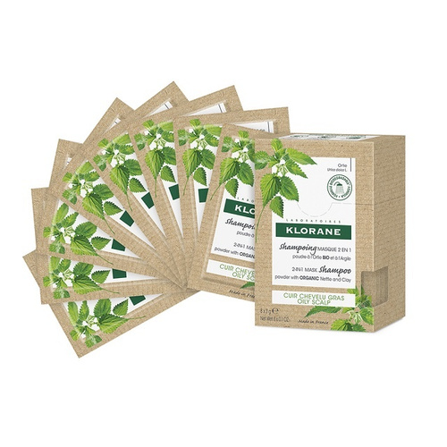 Klorane Shampoo Mask 2 in1 Nettle and Clay 8 Sachets