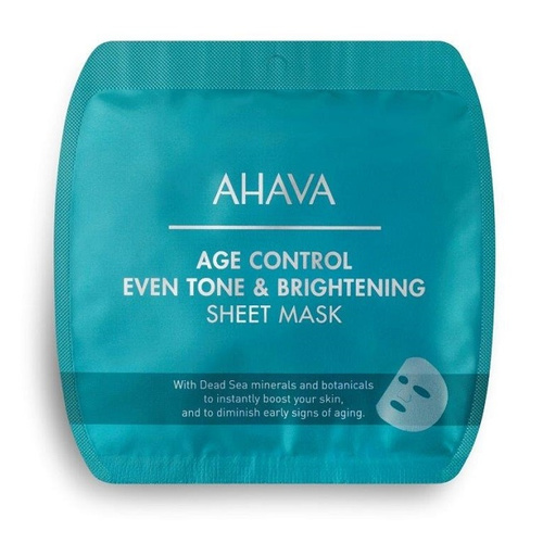 Ahava Age Control Even Tone & Brightening Sheet Mask Μάσκα Προσώπου Λάμψης 17gr