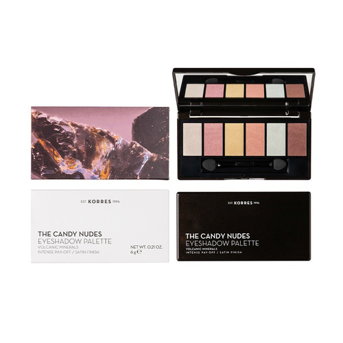 Korres Volcanic Minerals Eyeshadow Palette The Candy Nudes 6 gr