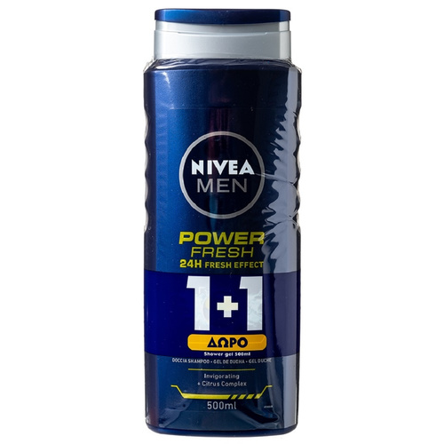 Nivea Promo Men Nτους Gel Power Refresh 500ml 1+1 Δώρο