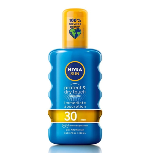 Nivea Sun Protect & Dry Touch Spray SPF30 Διάφανη Προστασία 200ml