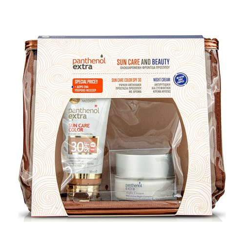 Panthenol Extra Promo Sun Care Color Spf30 50ml & Night Cream 50ml & Δώρο Νεσσεσερ