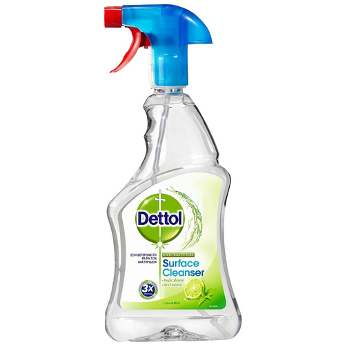 Dettol Surface Cleanser Lime & Mint Απολυμαντικό Spray 500ml