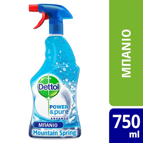 Dettol Power & Pure Advance Spray 750ml Mountain Spring 750ml