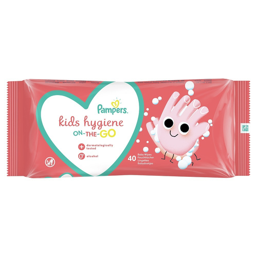 Pampers Kids Hygiene Wipes Μωρομάντηλα On-The-Go 40τμχ