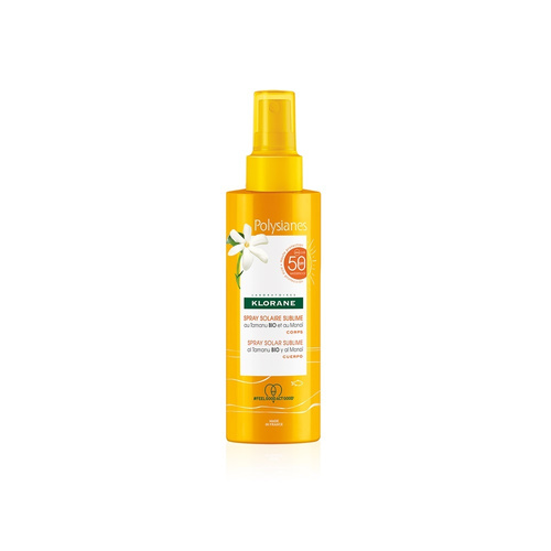 Klorane Polysianes Spray Solaire Sublime Λαμπερό Μαύρισμα SPF50 200ml