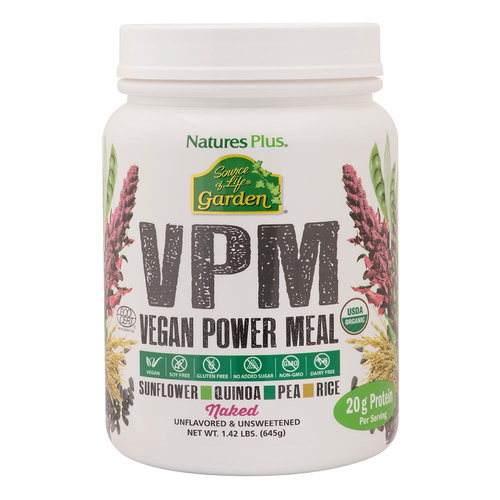 Nature's Plus Source Of Life VPM Naked Protein Vegan Power Meal 645g